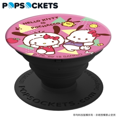 PopSockets 泡泡騷 美國 No.1 時尚手機支架-凱蒂貓x帕恰狗-蘋果帕恰