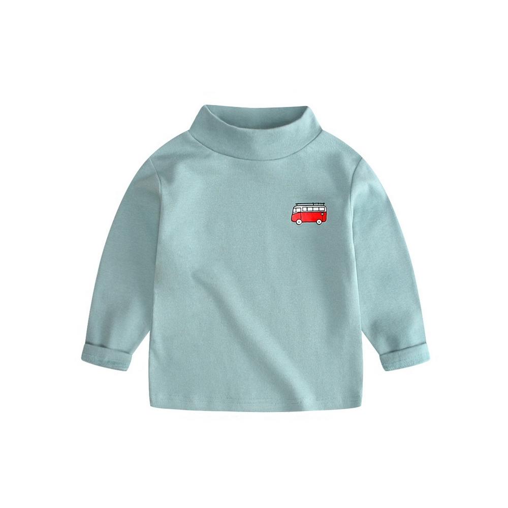 Baby童衣 中大兒童上衣長袖內搭T恤 女童高領 男童高領  88225