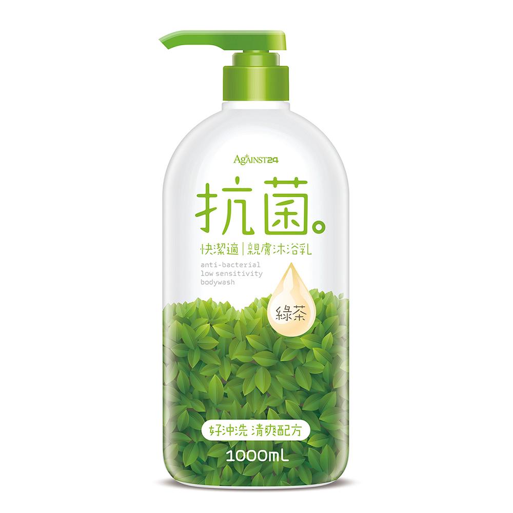 快潔適 親膚抗菌沐浴乳 1000ml-綠茶