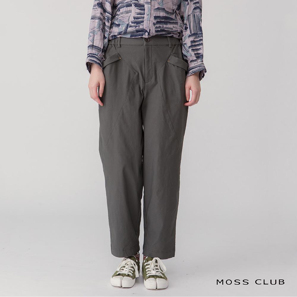 【MOSS CLUB】簡約風造型休閒-長褲(黑色)