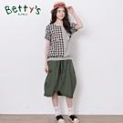 betty's貝蒂思 彈性腰圍荷葉裙邊中長裙(深綠)