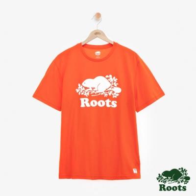 男裝Roots 經典庫柏海狸短袖T恤-橘色