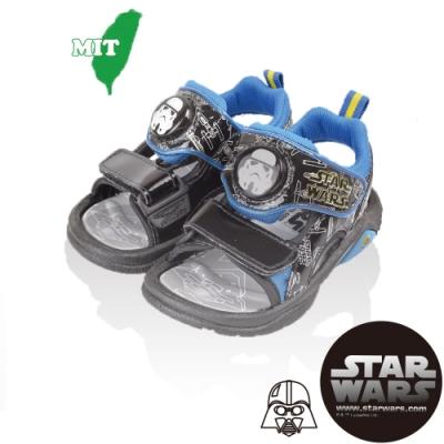 (雙11)StarWars星際大戰 童鞋  輕量減壓電燈涼鞋-黑