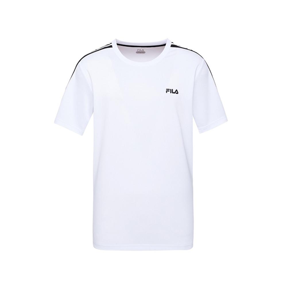 FILA 男抗UV吸濕排汗T恤-白 1TEV-1304-WT