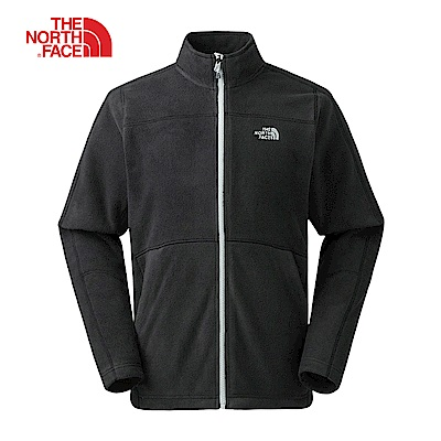 The North Face北面男款黑色保暖全拉鍊外套 368KJK3