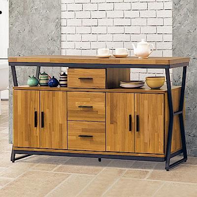Boden-斯克5尺工業風收納餐櫃/碗盤櫃-150x40x82cm