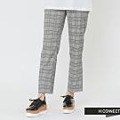 H:CONNECT 韓國品牌 女裝 -知性格紋直筒長褲- 藍(快)
