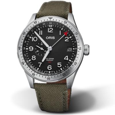 Oris豪利時BIG CROWN PROPILOT雙時區手錶-44mm