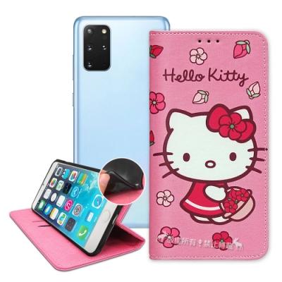 三麗鷗授權 Hello Kitty 三星 Samsung Galaxy S20+ 櫻花吊繩款彩繪側掀皮套