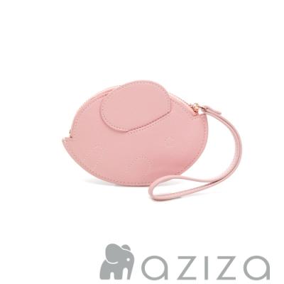 aziza 橢圓小象手拎零錢包 粉色