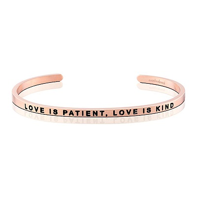 MANTRABAND Love Is Patient,Love Is Kind 玫瑰金手環