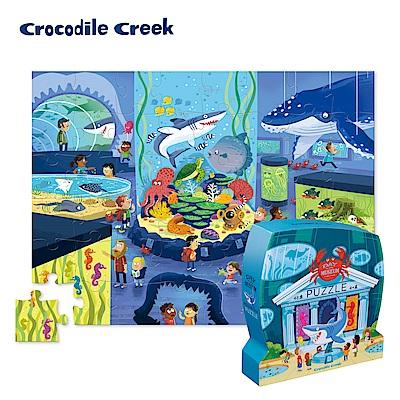 美國Crocodile Creek 博物館造型盒學習拼圖-海生館