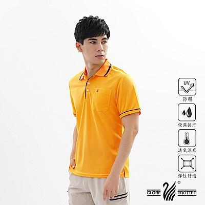 【遊遍天下】MIT男款吸濕排汗抗UV機能POLO衫GS1001黃色