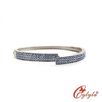 Cylyla思琳娜 羽毛階梯奧地利水晶手環BL-1338G