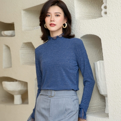 設計所在Lady-針織衫長袖修身立領毛衣(三色M-2XL可選)