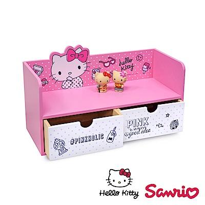Hello Kitty 凱蒂貓 桌上橫式抽屜收納櫃 桌上收納 文具收納 飾品收納