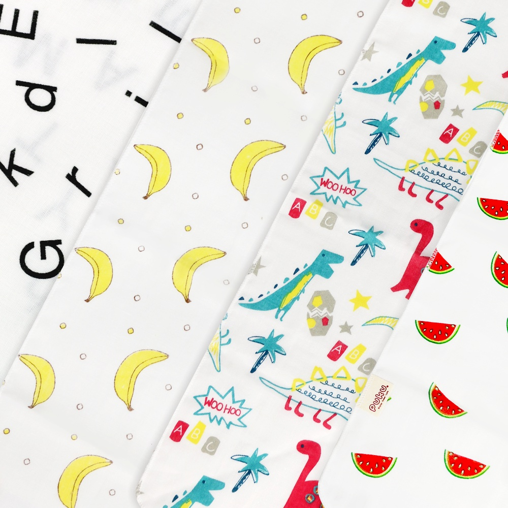【PUKU】超輕柔棉紗領巾2入-42*29*29cm