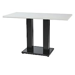 綠活居 阿爾斯環保3.5尺塑鋼雙腳座餐桌/休閒桌(二色)-105x60x74cm免組