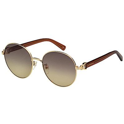 LONGCHAMP 圓面 太陽眼鏡 (金色)LO108
