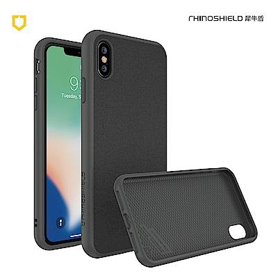 犀牛盾iPhone Xs Max Solidsuit 超細纖防摔背蓋手機 - 泥灰