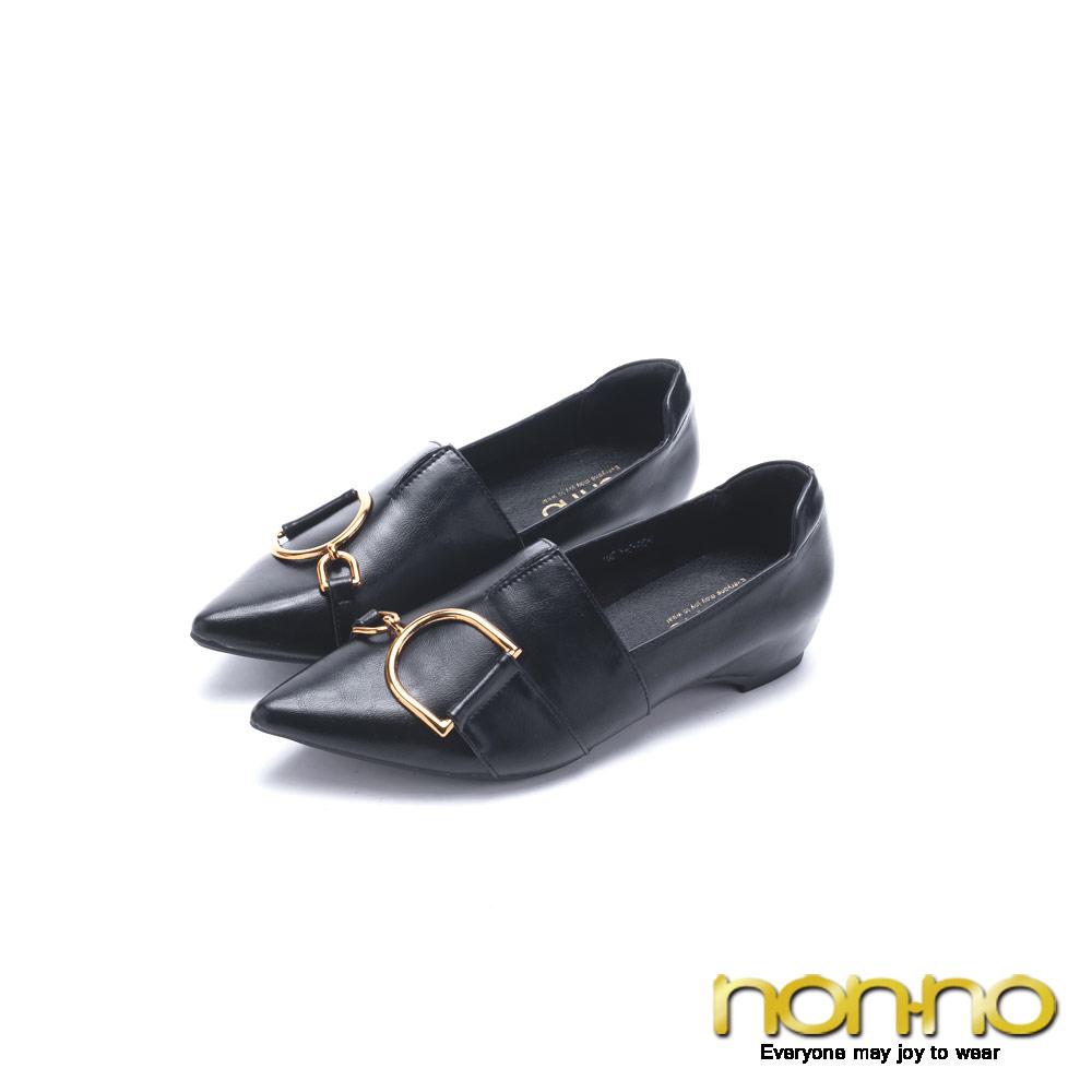 nonno 諾諾 文清風範雙D樂福鞋 黑