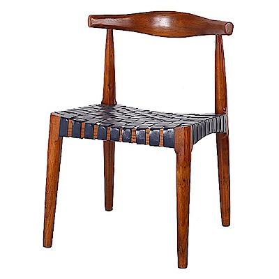 AS-所羅門淺胡桃色餐椅-53x49x75cm