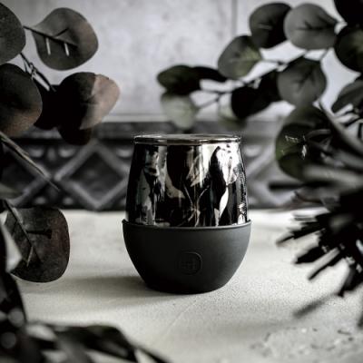 HYDY時尚水瓶Delicia系列 油墨黑-黑花 雙層隨行保溫杯240ml