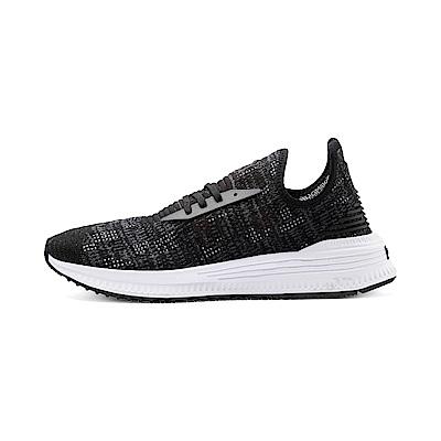 PUMA-AVID evoKNIT Mosaic 男女復古慢跑運動鞋-黑色