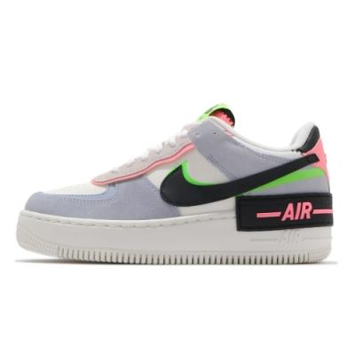 Nike Air Force 1 Shadow 女 休閒鞋 厚底 白藍-CU8591101