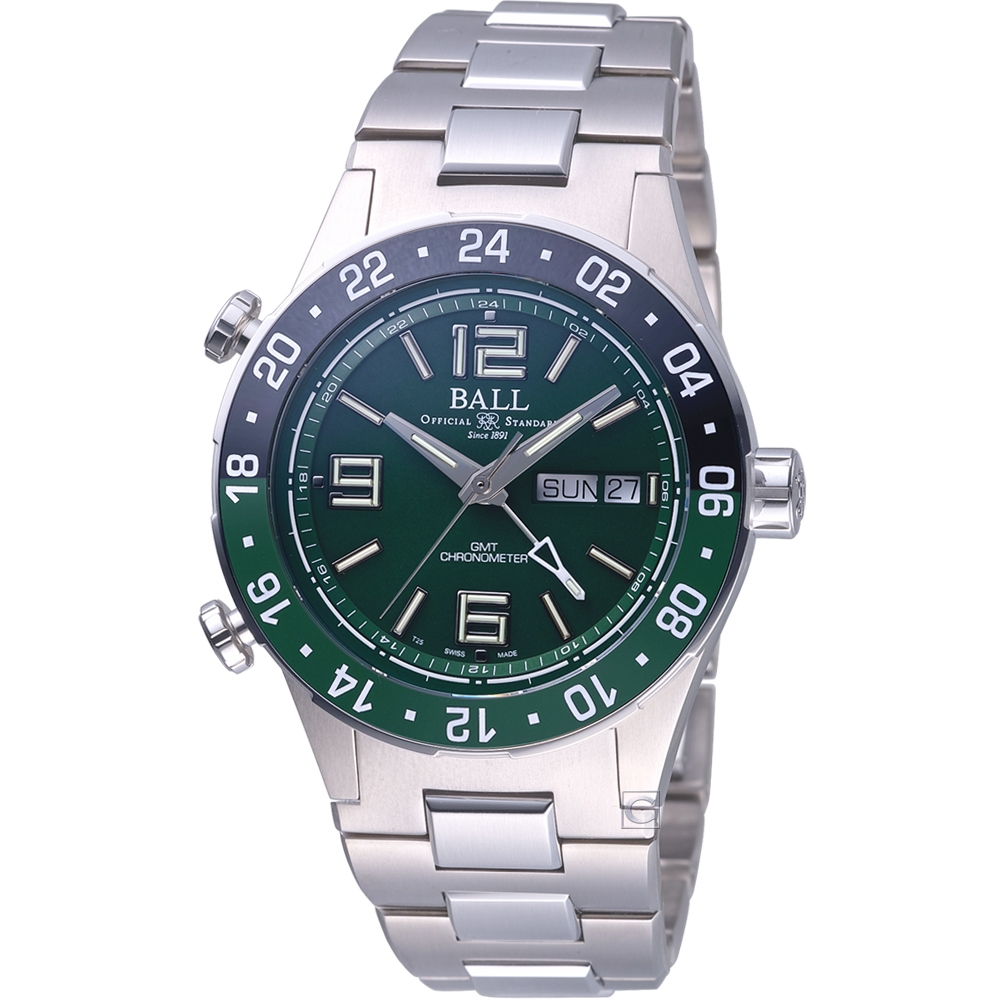 BALL WATCH Roadmaster Marine GMT 天文台認證機械錶(DG3030B-S2CJ-GR)綠-40mm
