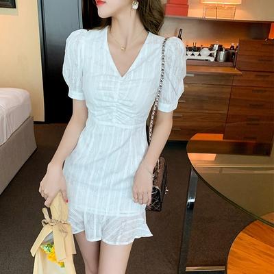 【KISSDIAMOND】法式復古氣質顯瘦洋裝(1色S-L/KDD-1663)