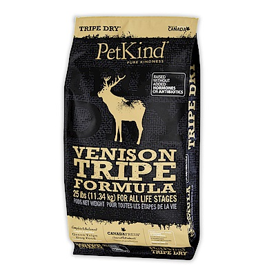 PetKind 野胃 天然鮮草肚狗糧 放牧鹿肉 25磅