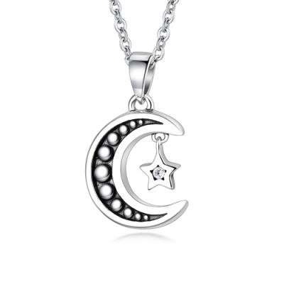 GIUMKAs925純銀星月男女情侶項鍊愛在星月 單個賣場
