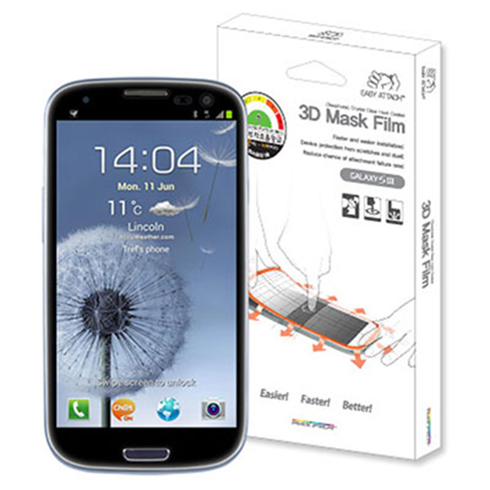 SKINPLAYER SAMSUNG GALAXY S3 3D立體全覆滿版保護貼 @ Y!購物