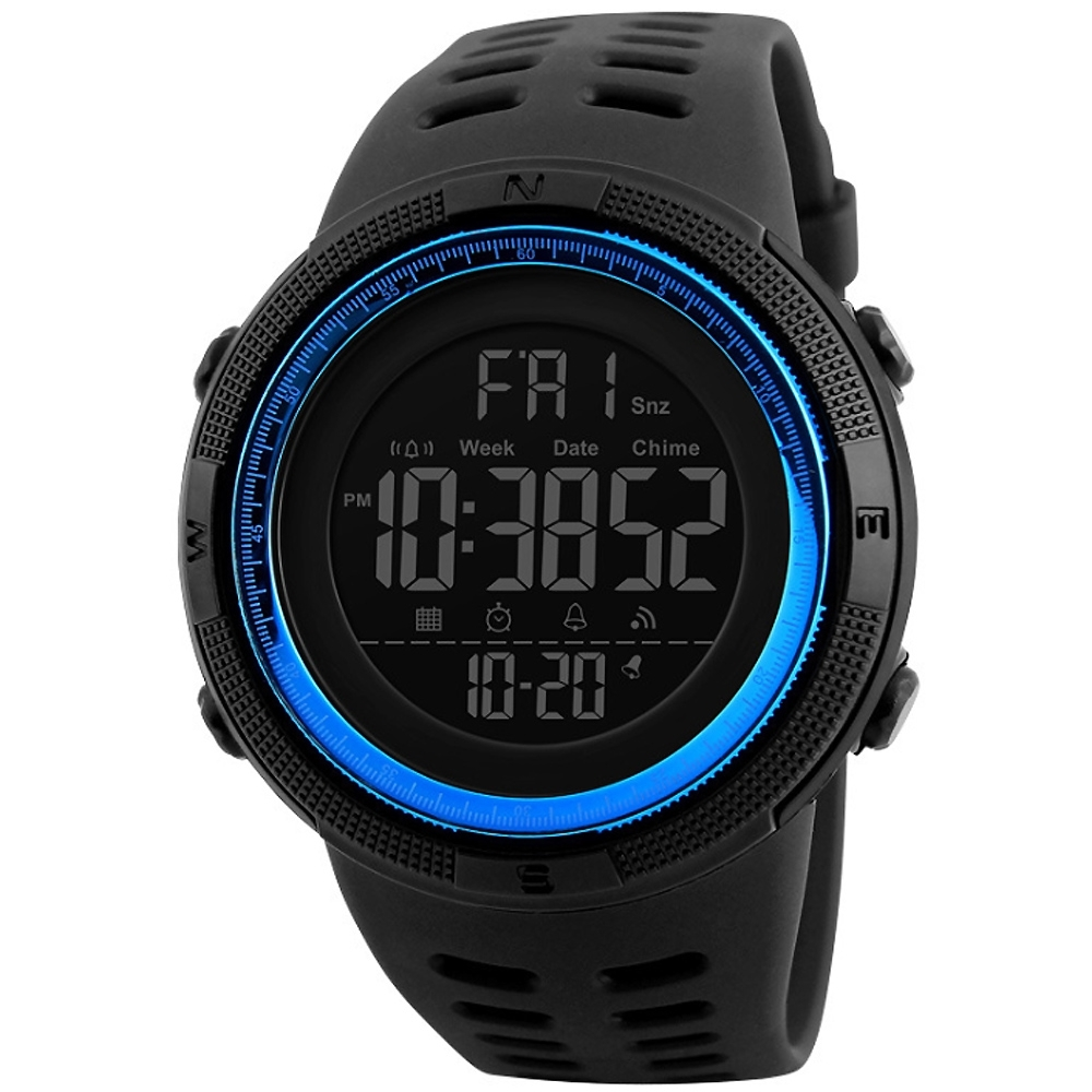 SKMEI 時刻美1096-太陽能夜光數字女用電子錶(3色任選)