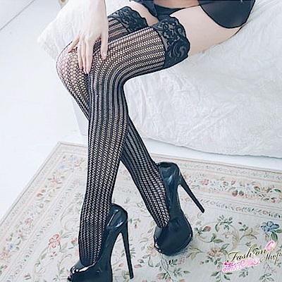 透膚美腿網襪 性感直條紋美腿襪 台灣製美腿黑絲襪 流行E線