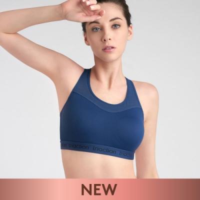 黛安芬-Triaction Studio活力好動系列 吸濕排汗運動型可調背勾 M-EEL背心 活力藍