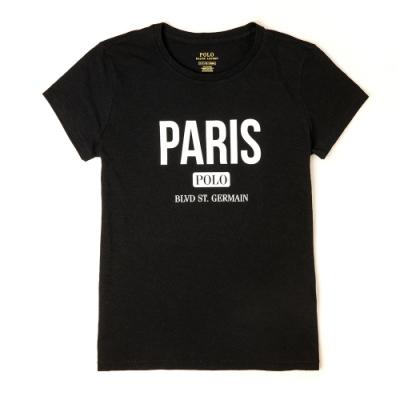 Polo Ralph Lauren 經典印刷城市系列巴黎短袖T恤(女)-黑色