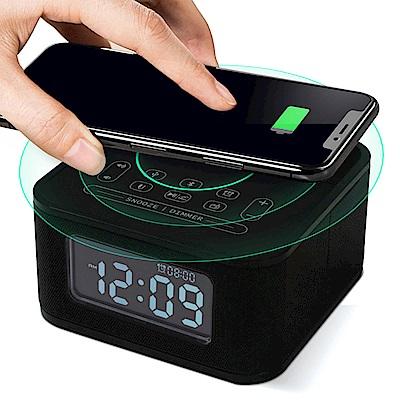 HOmtime D2qi 藍牙無線充電音箱 鬧鐘 充電座