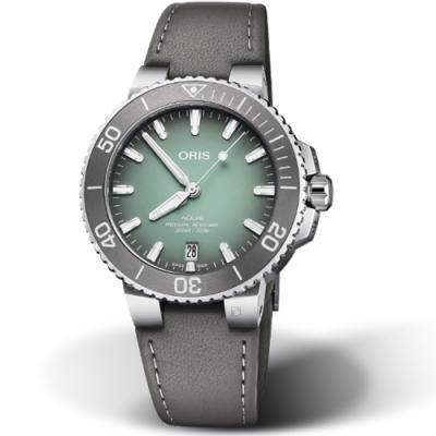 Oris豪利時Aquis時間之海300米機械錶-綠/39.5mm