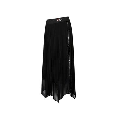 FILA #扳勢回潮 女平織長裙-黑色 5SKV-5445-BK