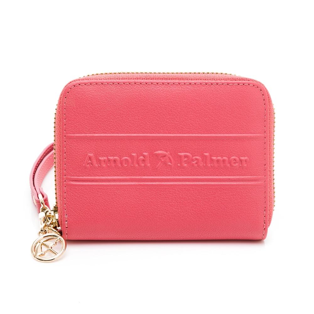 Arnold Palmer - ㄇ拉零錢包-附手挽帶 LASS系列 - 粉色