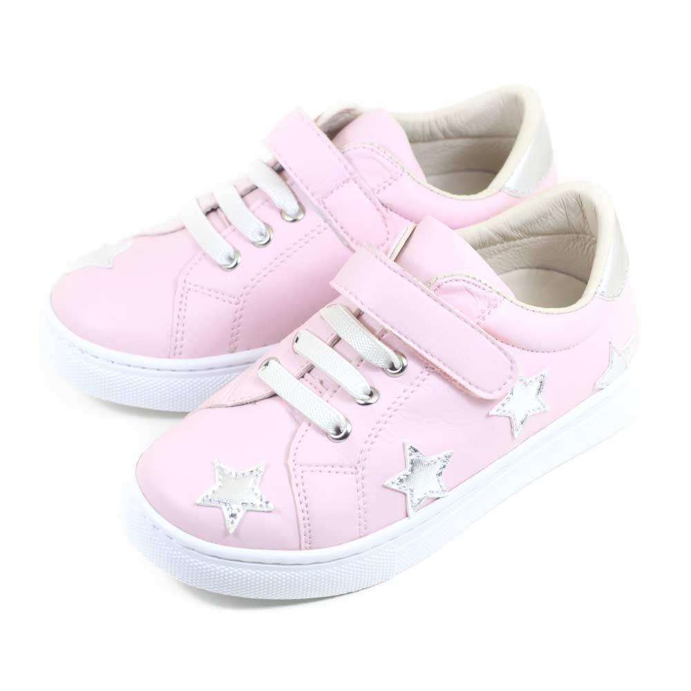 Swan天鵝童鞋-閃亮星星中童休閒鞋3866-粉