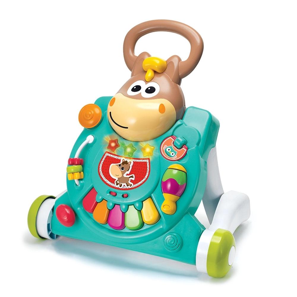 美國 Infantino 3合一聲光小馬學習玩具/學步車玩具組