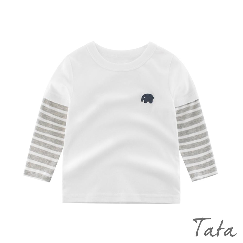 兒童 大象刺繡拼接上衣 TATA KIDS
