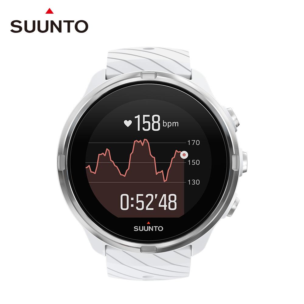 SUUNTO 9 堅固強勁 超長電池續航力的多項目運動GPS腕錶 (時尚白)