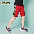 Balabala巴拉巴拉-帥氣BOY側邊文字織帶運動短褲-男(2色)