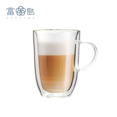 富島 極厚系列雙層耐熱玻璃杯350ML