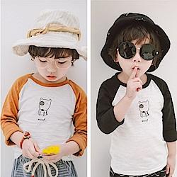 小衣衫童裝   兒童卡通鬥牛犬竹節棉長袖薄T恤1070335