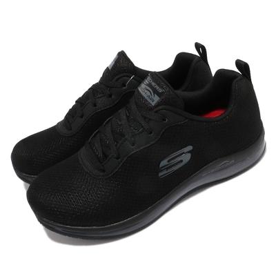 Skechers 休閒鞋 Skech-Air 氣墊 女鞋 防滑 工作鞋 記憶海綿鞋墊 緩震 黑 77274BBK